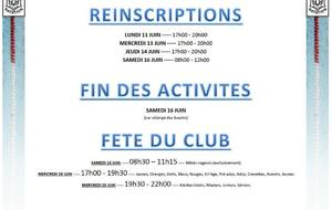 RE-INSCRIPTION SAISON 2018-2019 - Fête du club
